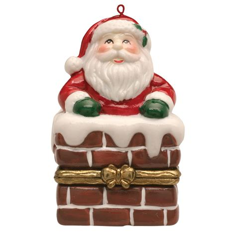 hinged gift box ornaments porcelain tree hinged ornament box santa in chimney jet