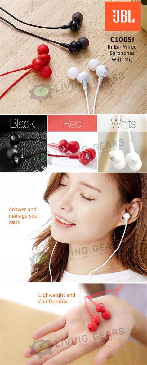Earphone Jbl C100si With Mic Original Grs Resmi Ims Kualitas Gokil jbl c100si in ear headphones with mic original 11street malaysia headphones earphones