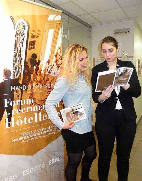 Esg Mba Hotellerie by Forum De Recrutement De L H 244 Tellerie 2016