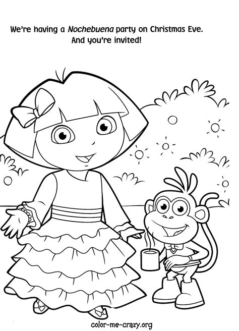 dora the explorer coloring pages nick jr princess dora the explorer coloring pages only coloring