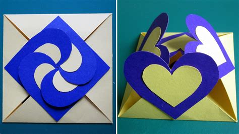 How To Make A Paper Birthday Card - card sealed with hearts learn how to make a