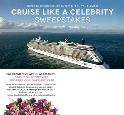Celebrity Sweepstakes - sweepstakeslovers daily from you flowers 99 cents only stores more