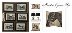 Equestrian Home Decor Equestrian Monochrome Interior Inspiration Equestrian Stylist