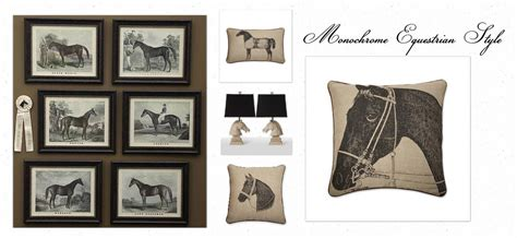 equine home decor equestrian monochrome interior inspiration equestrian stylist