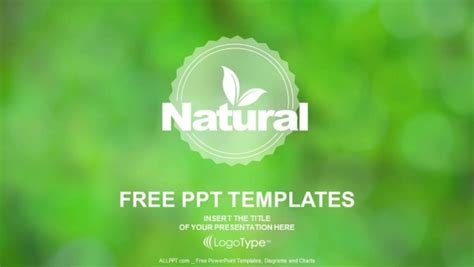 templates for powerpoint free download nature natural product logo design powerpoint templates