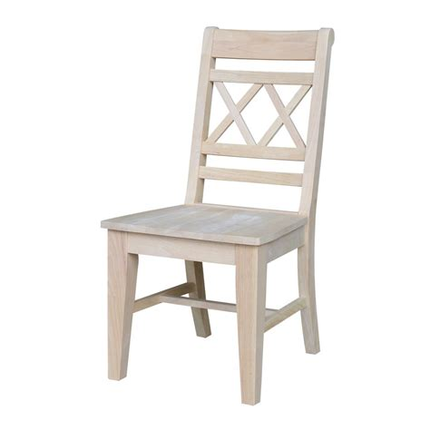 x back wood chair international concepts unfinished wood x