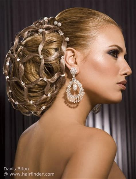 wedding hair using nets striking and elegant hair up style for women with long