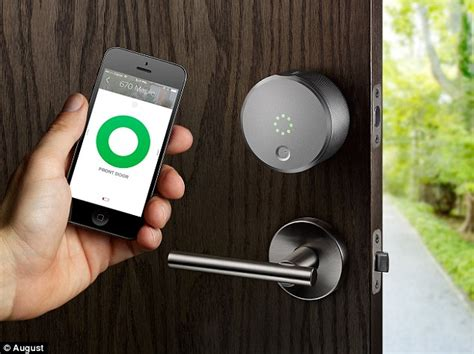 Smartphone Front Door Lock August Smart Lock Lets You Open The Front Door With Your Mobile Daily Mail
