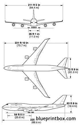 boeing 747 400 plan si鑒es boeing 747 400 1 plans aerofred free model