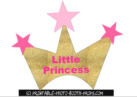 photo booth crown printable free printable girl baby shower photo booth props
