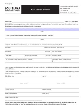 act of donation for boats fill online printable - Boat Act Of Donation