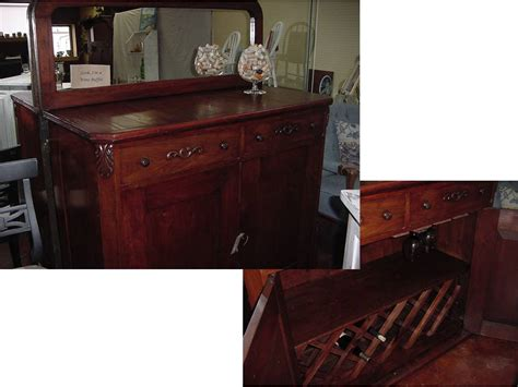 wine buffet bar rebuilt antique wine buffet bar with new mirror and plenty of storage just tables