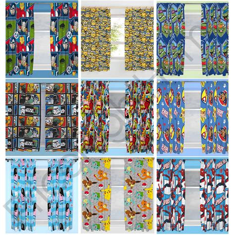 pokemon curtains official disney character boys curtains bedroom marvel