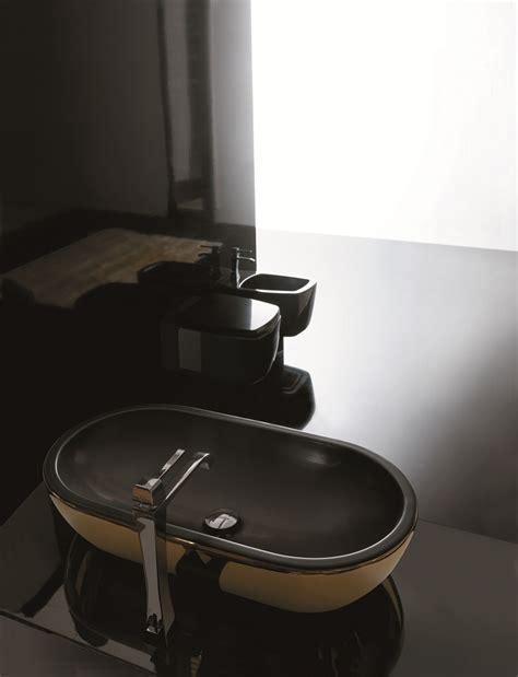 midas ceramic gold black ultra modern gold black vessel sink