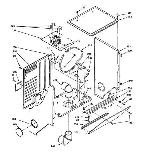 ge dryer parts diagram dryer cabinet motor diagram parts list for model
