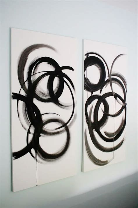 black and white painting ideas 20 easy abstract painting ideas