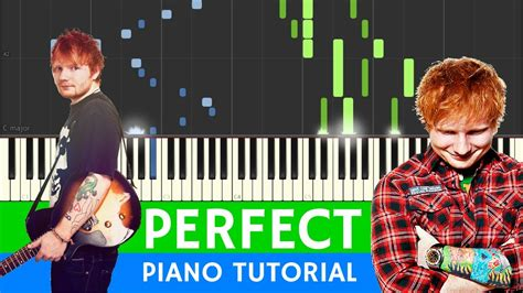 ed sheeran perfect karaoke piano ed sheeran perfect best piano tutorial youtube