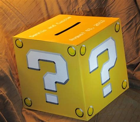mario mystery box l super mario bros style question mark mystery by