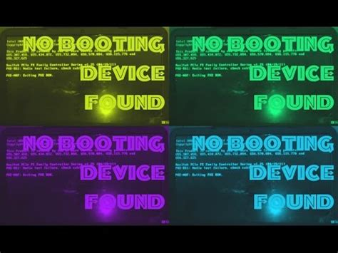 how to fix no boot device found problem