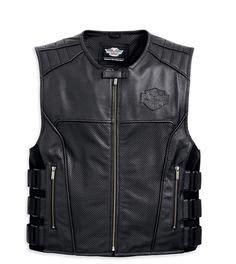 Premium Vest Zipper Harley Davidson 3 harley davidson s fxrg leather jacket with pocket