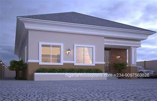 house designs floor plans nigeria 4 bedroom bungalow ref nos 4012 nigerianhouseplans