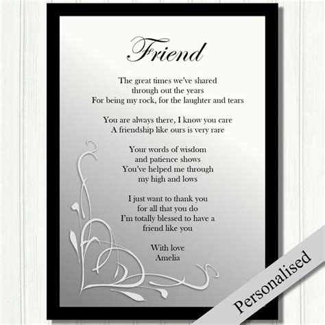 wedding poems for friends free friend gift personalised birthday gift best friends