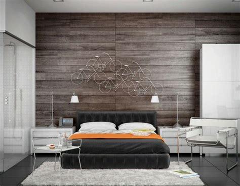 ideen wanddeko schlafzimmer modernes schlafzimmer mit origineller wanddeko und