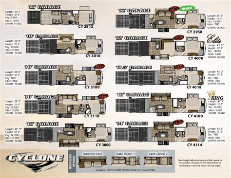 cyclone rv floor plans cyclone toy hauler floor plans gurus floor