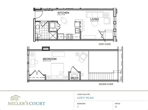 House Plans With A Loft by One Bedroom House Plans Loft Floor Plans New