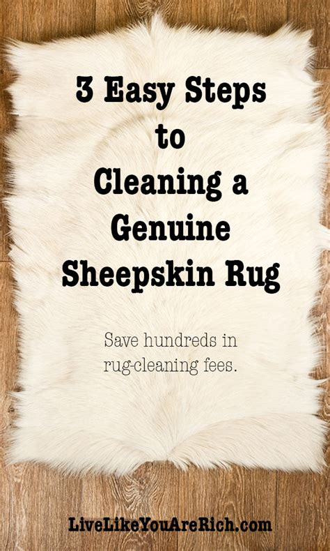 3 Easy Steps To Cleaning A Genuine Sheepskin Rug Live How To Clean Rugs