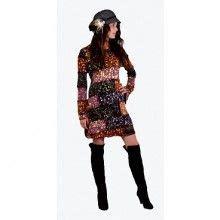 Ririanti Batik Layer Mini Dress acrylic blend snap wrap skirt jayli free spirit