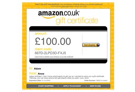 Send Amazon Gift Card To Email - amazon co uk help sle email gift certificate