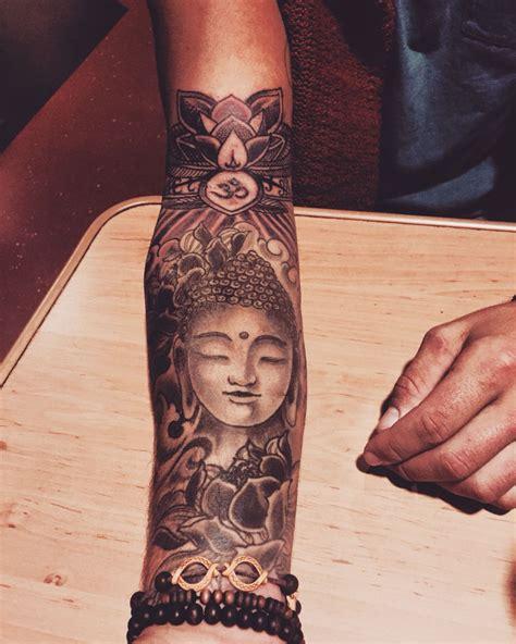 weight tattoo buddha tattoos half sleeves sleeve and lotus