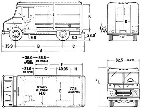 Food Truck Floor Plan by Elevation Drawings Of Vehicles Qbn