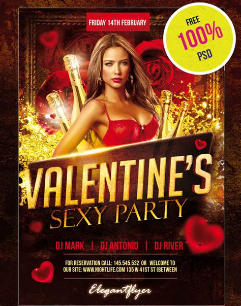 25 Psd Flyers Elements For St Valentine S Day Free Psd Templates Ad Template Psd