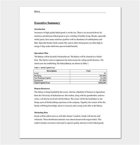 Bakery Business Plan Template 15 Sles Word Doc Pdf Format Bakery Business Plan Template Pdf