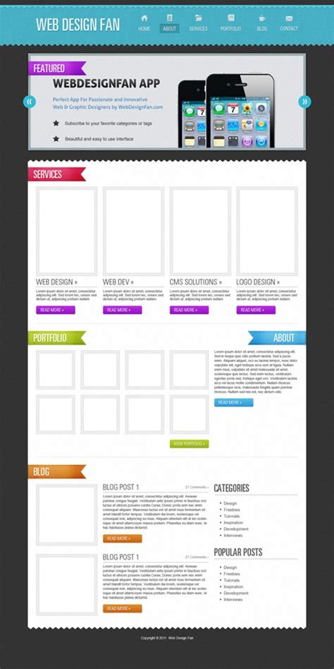 web layout for photoshop 51 impressive web design tutorials