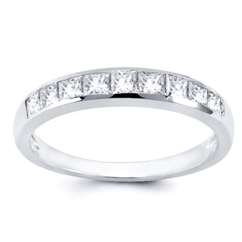 1 2 ct tw channel set princess cut wedding band