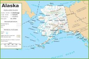 road map alaska usa alaska road and railroad map