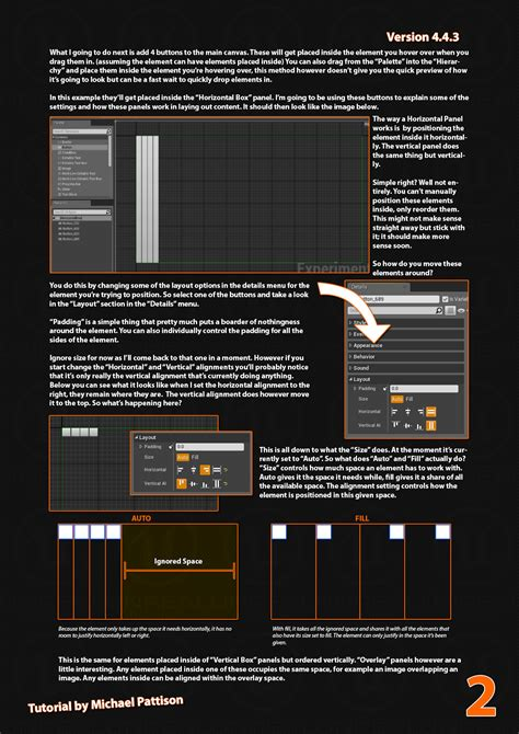 Panel Umg voxagon ue4 tutorial umg layout panels