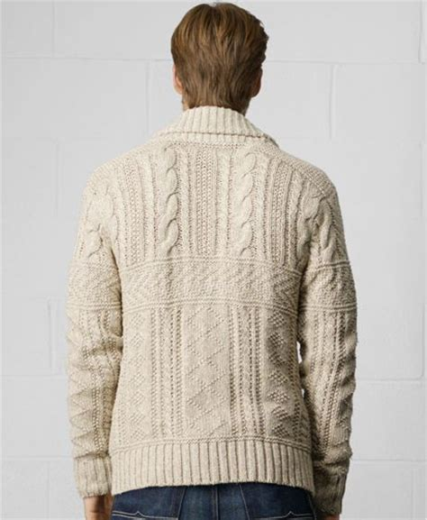 cable knit shawl denim supply ralph shawl collar cable knit