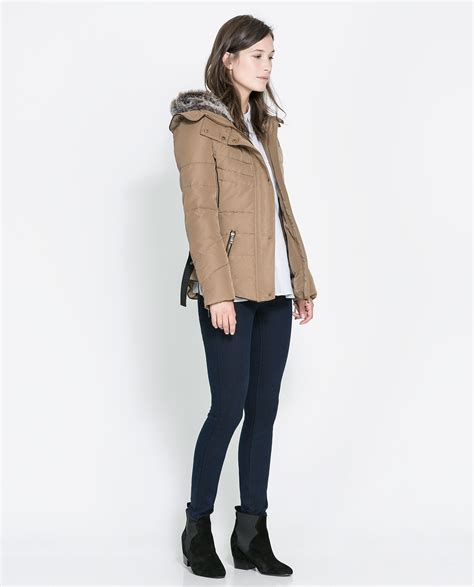 Zara Vest zara quilted jacket with in lyst