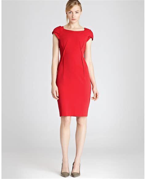 Red Sheath Dress Dressed Up Girl