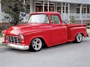 1955 chevy stepside truck true reflection