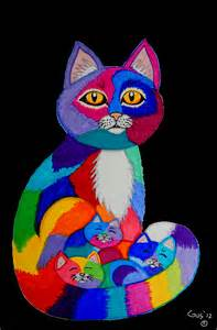 colorful cats colorful cats and kittens by nick gustafson