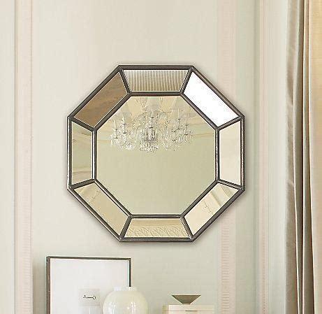 octagon bathroom mirror octagon shaped paneled mirror