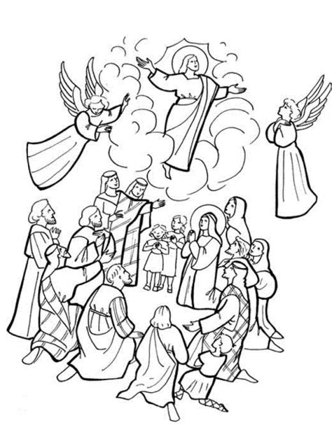 coloring pages ascension of jesus ascension of jesus coloring page az coloring pages