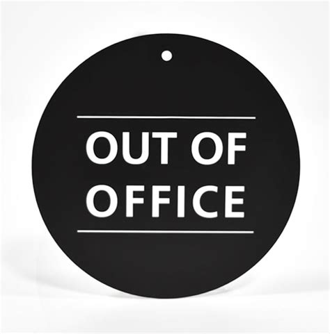 out of the office sign template images templates design