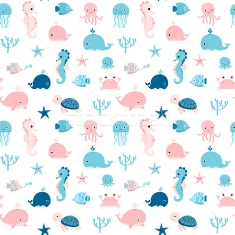 cute ocean pattern sea animals stock photos stock images and vectors