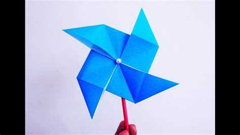 How To Make A Paper Windmill That Spins - 25 best ideas about paper windmill on